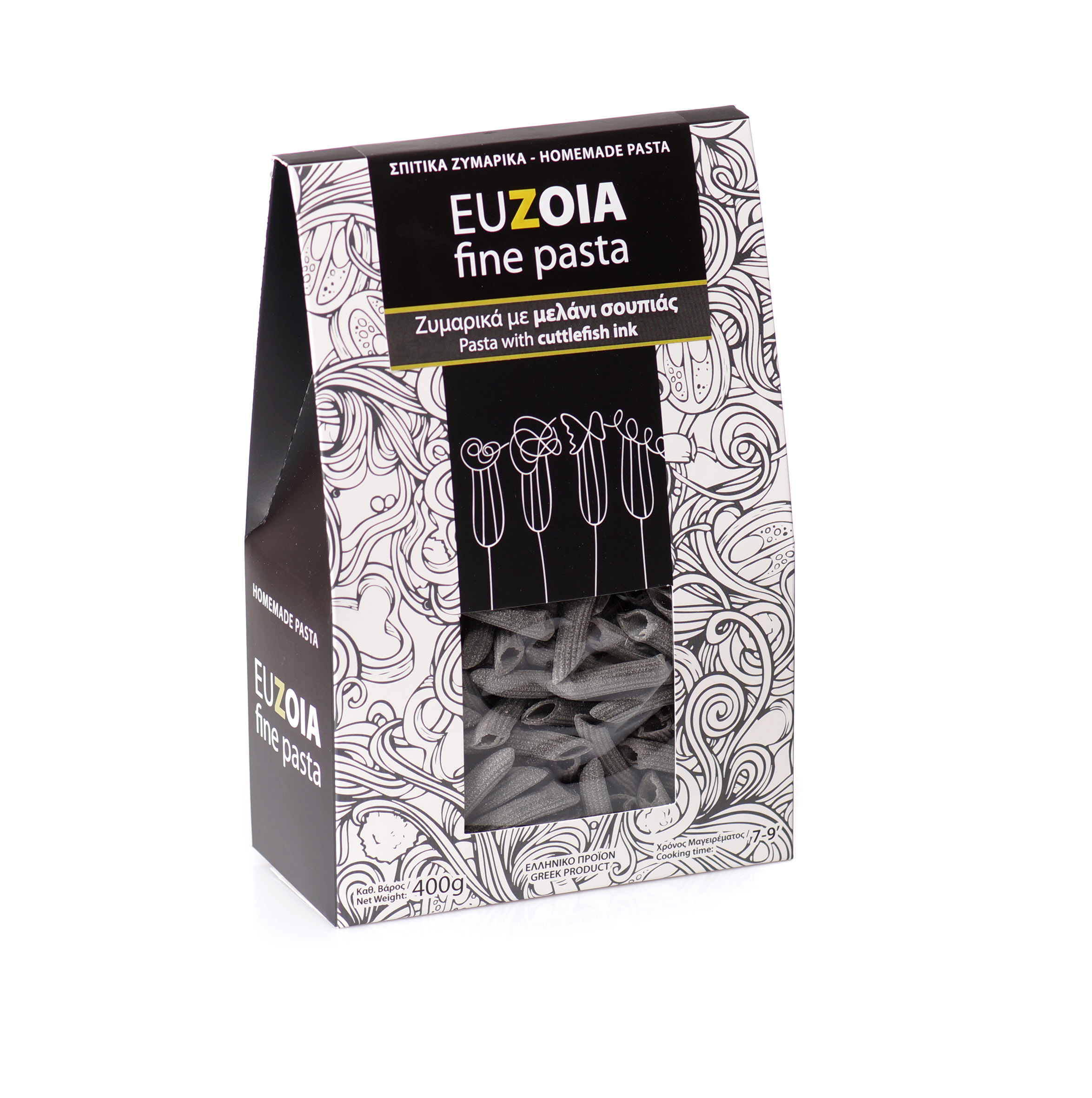 Penne with Cuttlefish Ink 400gr